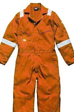 dickies jumpsuit »workewear herren mit hi vis streifen« oranje