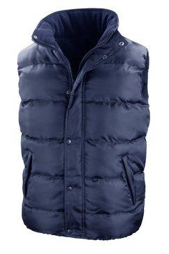 result bodywarmer »core nova lux herren winterweste - , wasserabweisend, winddicht« blauw