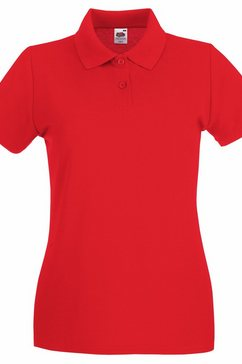 fruit of the loom poloshirt »damen lady-fit premium« rood