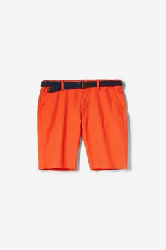 s.oliver file loose: luchtige cargobermuda oranje