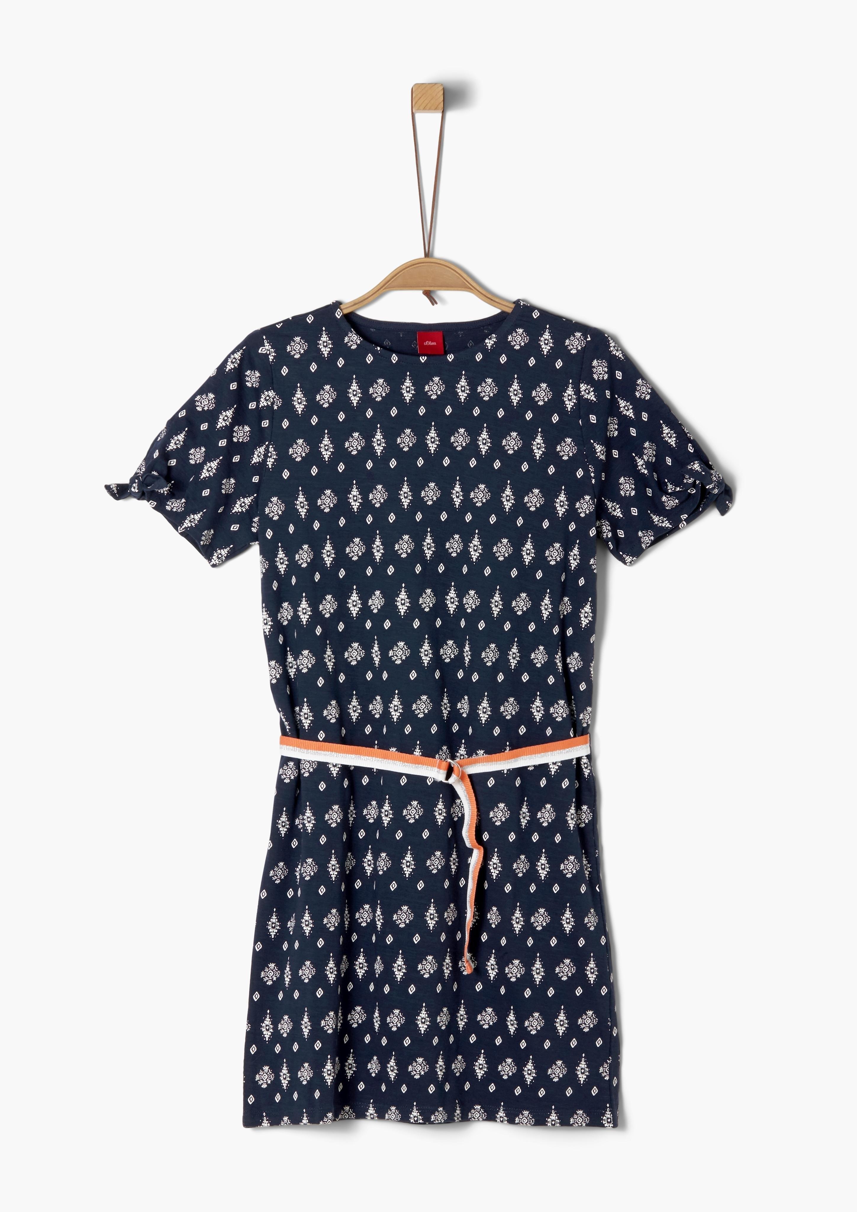 s.Oliver RED LABEL s.Oliver Junior Cold-shoulder jurk met motief voor meisjes online kopen op otto.nl