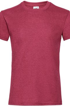 fruit of the loom t-shirt »maedchen , kurzarm« rood