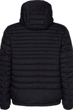 tommy hilfiger gewatteerde jas »quilted hooded jacket« zwart