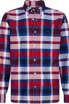 tommy hilfiger geruit overhemd »flex bright midscale check shirt« multicolor