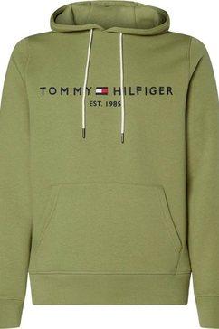 tommy hilfiger hoodie »tommy logo hoody« groen
