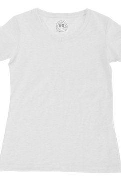 russell t-shirt »jungen kurzarm hd mit v-ausschnitt« weiß