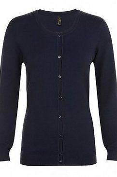 sols vest »damen griffith mit v-ausschnitt, langaermlig« blauw