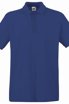 fruit of the loom poloshirt »premium herren polo-shirt, kurzarm« blauw