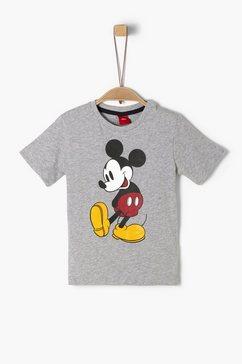 s.oliver junior t-shirt met print voor jongens grijs