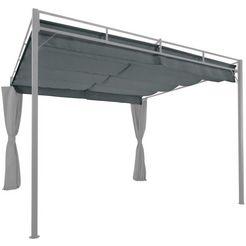 konifera los dak voor tuinprieel »milos«, bxd: 300x287 cm grijs
