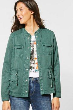 street one jeansjack groen