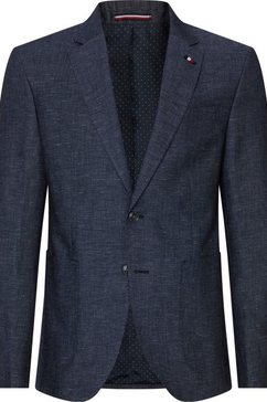 tommy hilfiger tailored linnen colbert blauw