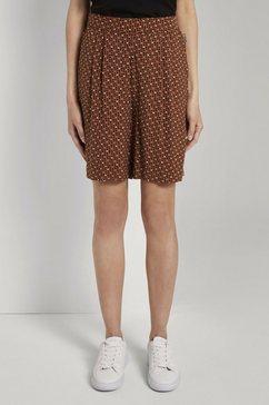 tom tailor bermuda »loose fit bermuda shorts mit elastischem bund« bruin
