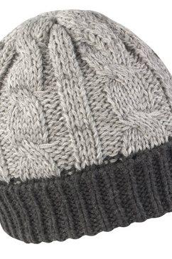 result gebreide muts »unisex winter essentials« grijs