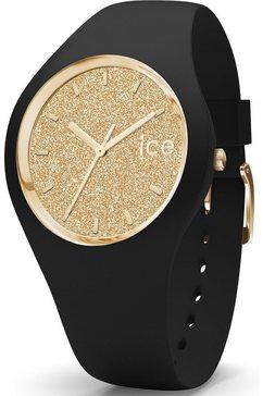 ice-watch kwartshorloge ice glitter, 001348 zwart