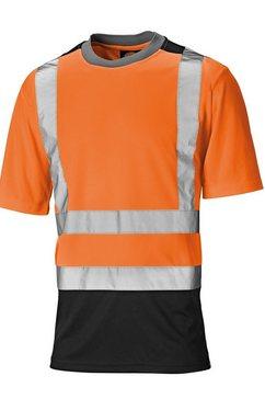 dickies t-shirt »herren in leuchtenden farben, kurzaermlig« oranje