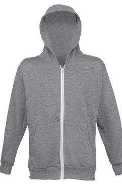 1139725816 nickyjack met capuchon »kinder unisex kapuzenjacke - hoodie - kapuzensweatshirt« grijs