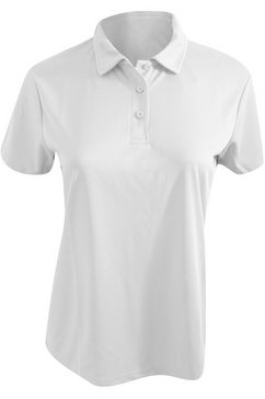 awdis poloshirt »cool damen - polo-shirt, taillierte passform« wit