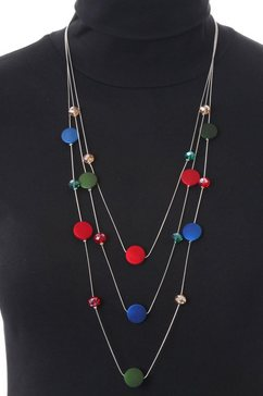 j jayz lange ketting »layering kette mit runden zwischenelementen« multicolor