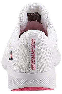 tommy sport sneakers met sleehak »ts sport 2 women« wit