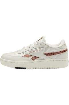 reebok classic sneakers »club c double animal print« wit