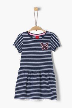 s.oliver junior jersey jurk met omkeerbare pailletten voor meisjes blauw