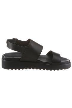 buffalo sandalen »jacky« zwart