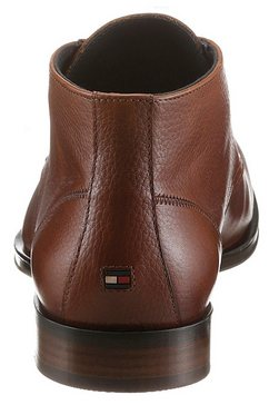 tommy hilfiger veterlaarsjes »casual leather mix boot« bruin