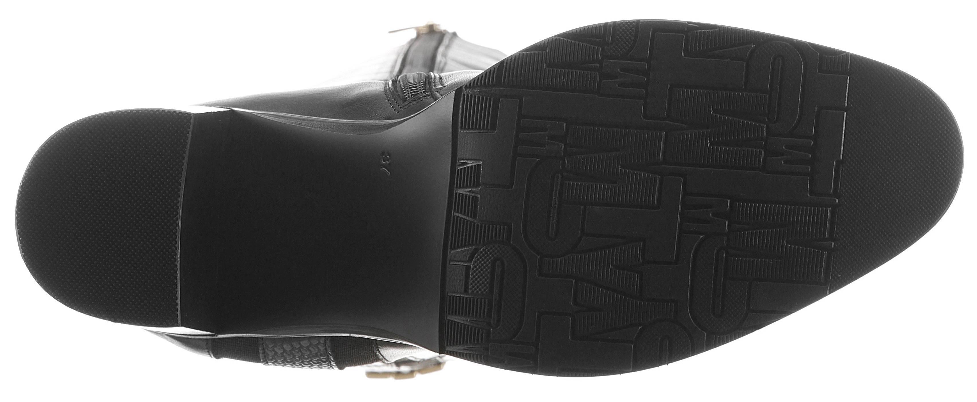 Tommy Hilfiger highheel-laarzen »TH INTERLOCK HIGH HEEL LONG BOOT« nu online bestellen