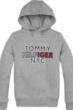 tommy hilfiger hoodie »th nyc graphic hoodie« grijs