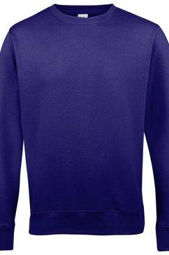 awdis trui met ronde hals »just hoods unisex sweatshirt mit rundhalsausschnitt« paars