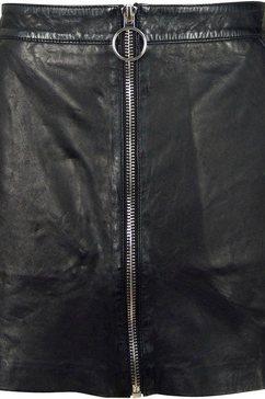 gipsy leren rok »dogon« zwart