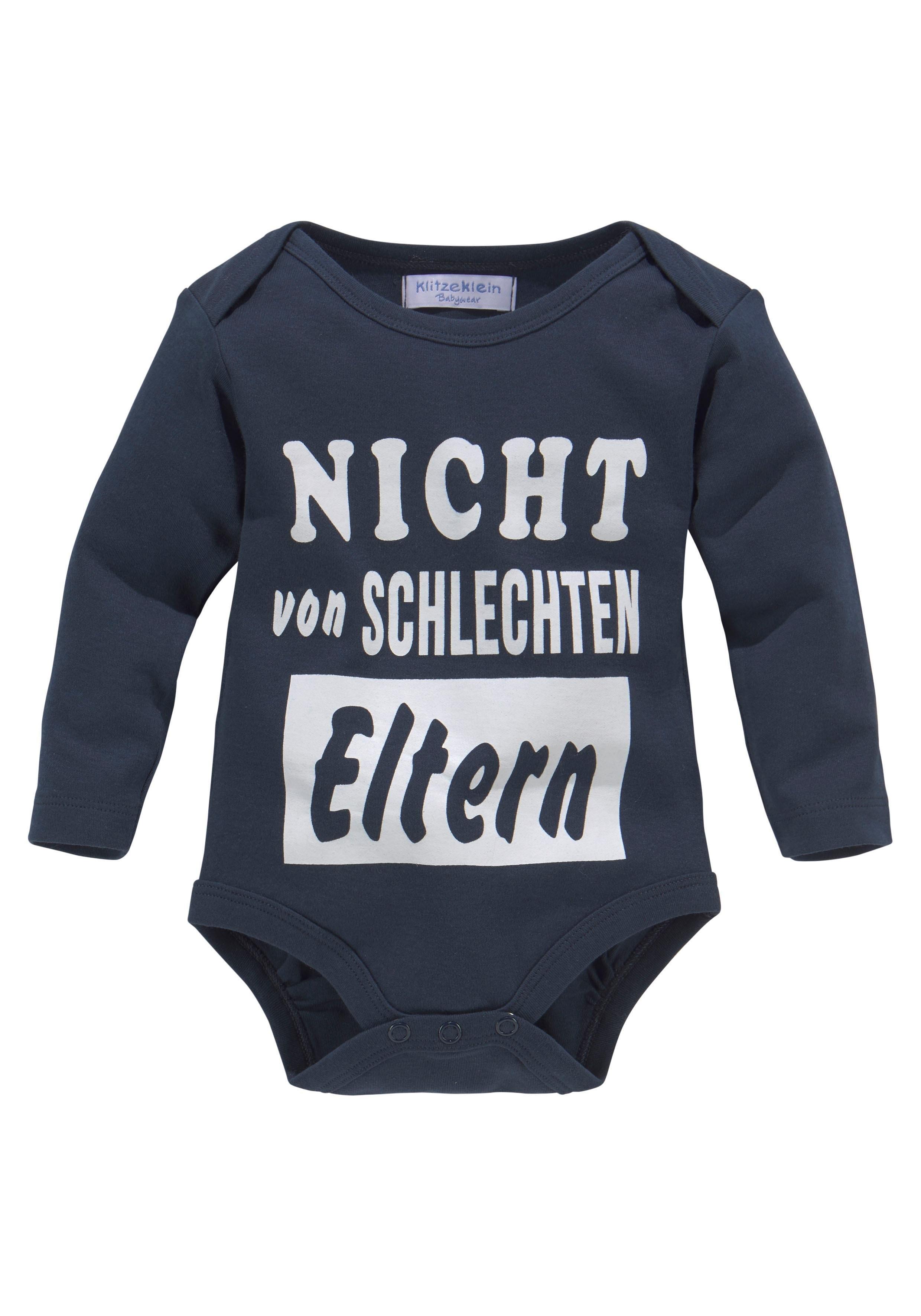 KlitzeKlein body met lange mouwen »Nicht von schlechten Eltern« goedkoop op otto.nl kopen