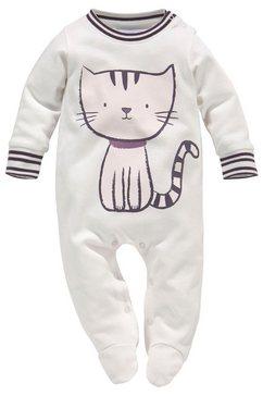 klitzeklein pyjama »meow magic« wit