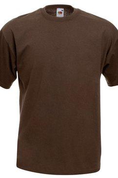 fruit of the loom t-shirt »herren kurzarm« bruin