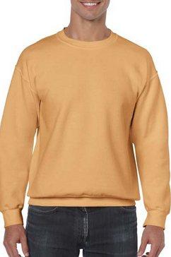 gildan trui met ronde hals »heavy blend unisex sweatshirt mit rundhalsausschnitt« goud