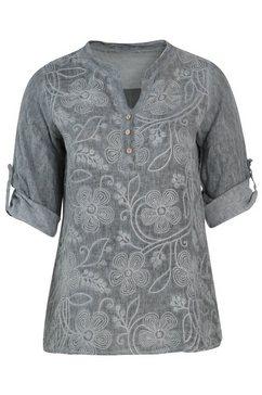 paprika gedessineerde blouse grijs