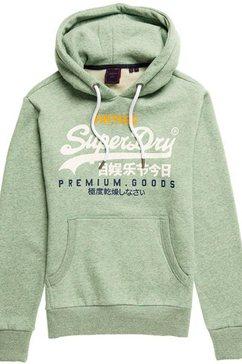 superdry hoodie »vl tri hood« groen