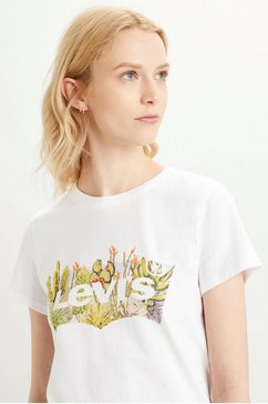 levi's shirt met ronde hals »the perfect tee« wit