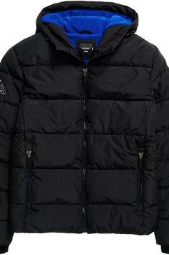 superdry gewatteerde jas »sports puffer« zwart