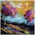 artland print op glas herfst-eiken (1 stuk) paars