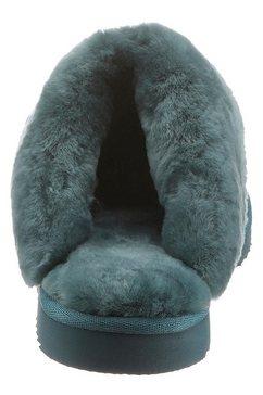 warmbat pantoffels »flurry« blauw