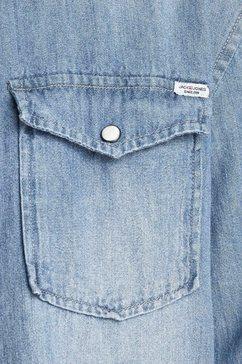 jack  jones junior jeansoverhemd »jjewestern sheridan shir« blauw