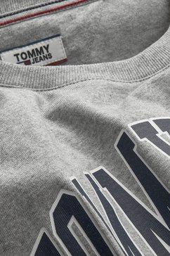 tommy jeans shirt met ronde hals »tjw collegiate logo« grijs