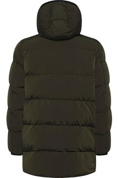 calvin klein gewatteerde jas »crinkle nylon long length jacket« groen