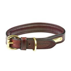 weatherbeeta »leder hundehalsband gepolstert« honden-halsband bruin