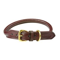 weatherbeeta »roll leder hundehalsband« honden-halsband bruin