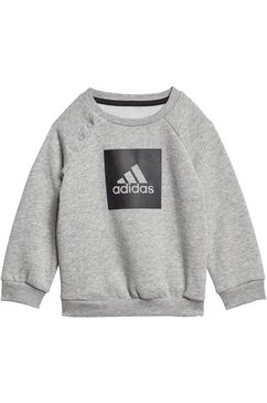 adidas performance joggingpak »3stripes logo jogger fleece« zwart