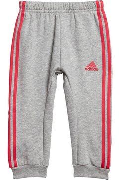 adidas performance joggingpak »3stripes logo jogger fleece« roze