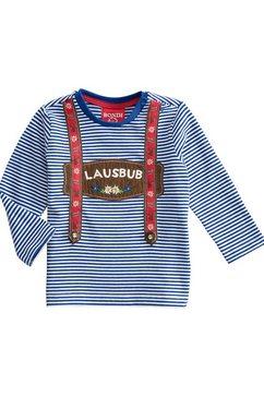 bondi folkloreshirt blauw